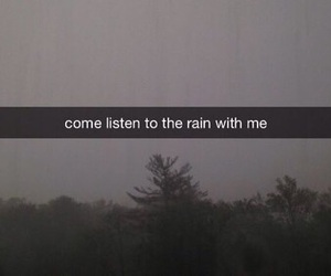 rain, sad, and listen image