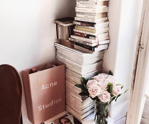 book, flowers, and acne image
