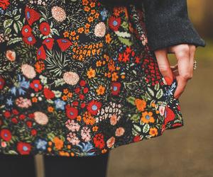 bag, dress, and flower image