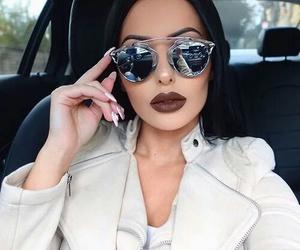 fashion, makeup, and sunglasses image