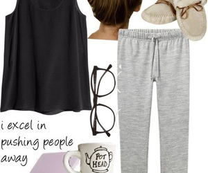 fashion, outfit, and sweatpants image