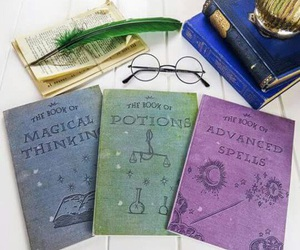 harry potter, magic, and book image