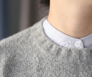 minimal, grey sweater, and stylé image