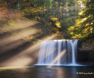 beautiful, landscape, and rays image