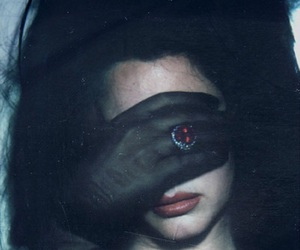 dark, lolita, and red lips image