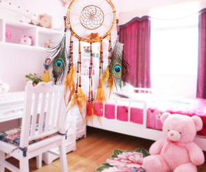 dream catcher, inspiration, and pink image