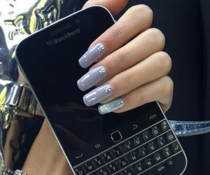 nails, blackberry, and fashion image