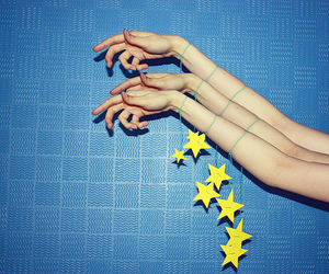stars, blue, and arms image