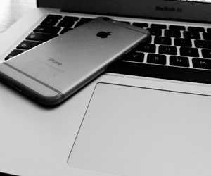 iphone, apple, and grey image