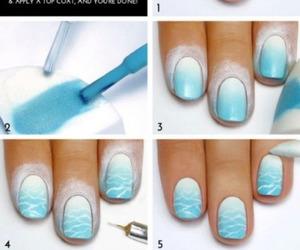 nails, blue, and diy image