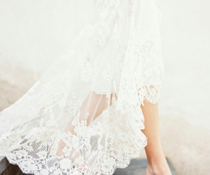 dress, lace, and white image