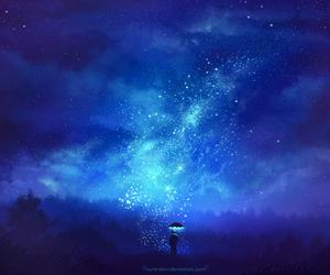stars, art, and illustration image