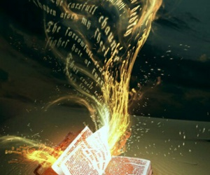 book, magic, and words image