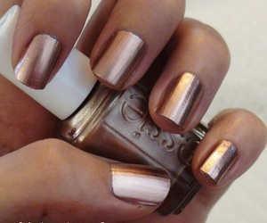 nails, essie, and gold image
