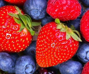 raspberries and strawberries image