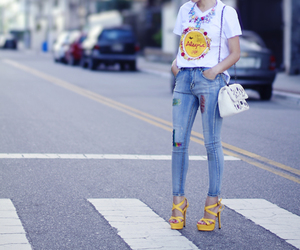 jeans, calça, and moda image