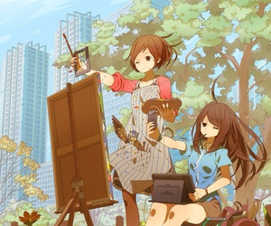 anime, art, and painting image