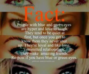 eyes, fact, and blue image