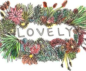 lovely and flowers image