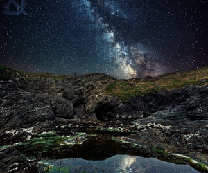 beautiful, milky way, and reflection image