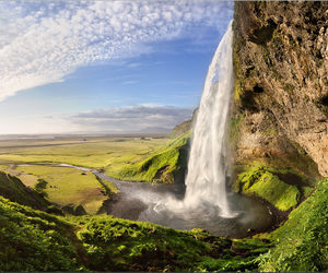 beautiful, landscape, and waterfall image