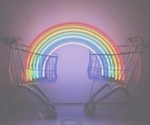 rainbow, grunge, and light image