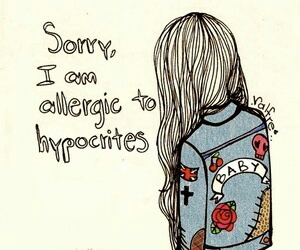 hypocrite, sorry, and quotes image