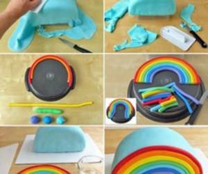 arcoiris, cake, and colors image