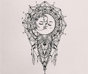 moon, sun, and art image