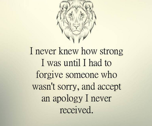 quotes, strong, and apology image
