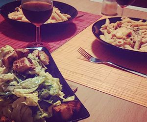 dinner, food, and salad image