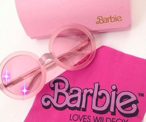 barbie, pink, and sunglasses image