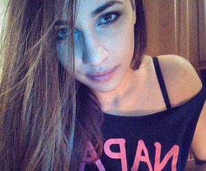 eyes, long hair, and makeup image
