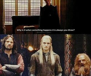 harrypotter, the lord of the rings, and hobbit image