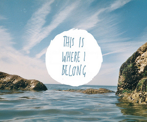 quote, text, and sea image