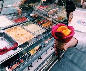 ice cream, rose, and amorino image