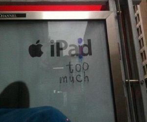 funny, ipad, and apple image