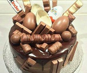 chocolate, cake, and kinder image
