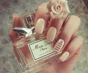 nails, dior, and perfume image
