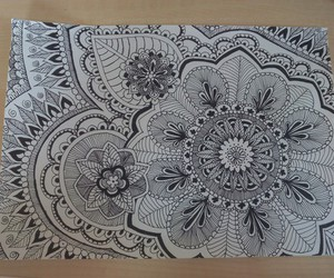 mandala, draw, and henna image