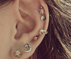 ear, moon, and star image