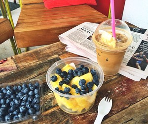 blueberry, healthy, and fit image
