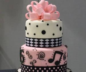 cake, music, and pink image