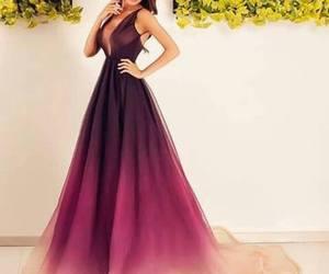 dress, pink, and purple image