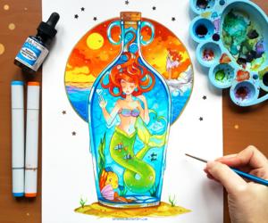 ariel, princess, and sirenetta image