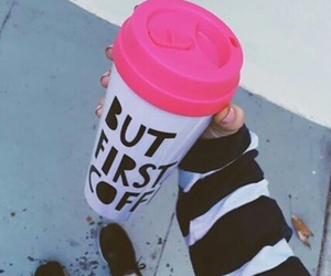coffee, pink, and coffe image