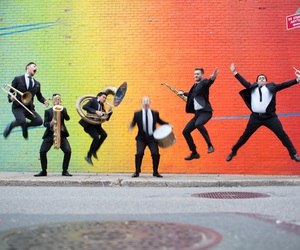 brass, rainbow, and brass band image