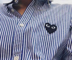 fashion, blue, and shirt image