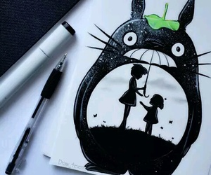 totoro, drawing, and cute image