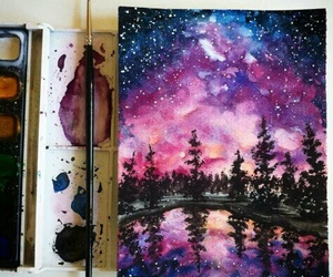 landscape, painting, and disegni image